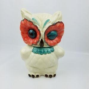 "Anthropologie ""The Real Hoot"" owl cookie jar"
